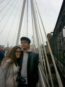 Thomas and his girlfriend, Kayla, on our London trip this past Spring.